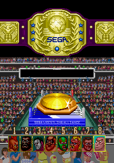 Wrestle War (set 3, World) (8751 317-0103) select screen