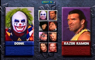 WWF: Wrestlemania (rev 1.30 08/10/95) select screen