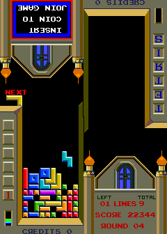Tetris (cocktail set 2) Screenshot