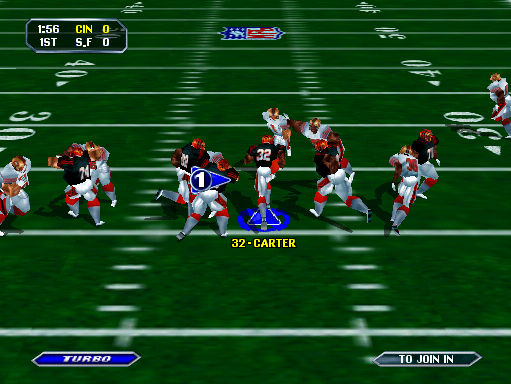 NFL Blitz (boot ROM 1.1) Screenshot