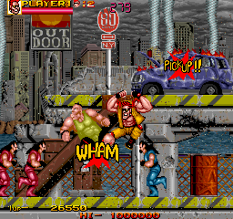 Crude Buster (World FX version) Screenshot