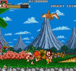 Caveman Ninja (World ver 1) Screenshot