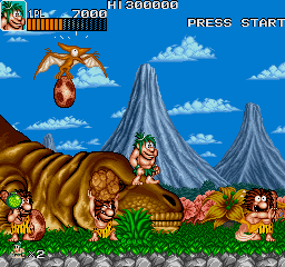 Caveman Ninja (US ver 4) Screenshot