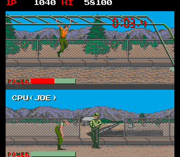Combat School (Japan trackball) Screenshot