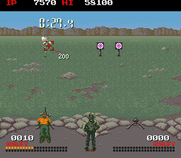 Combat School (trackball) Screenshot