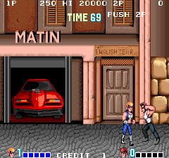 Double Dragon (bootleg with HD6309) Screenshot