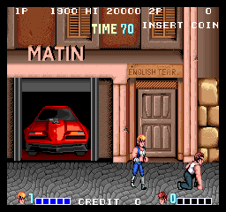 Double Dragon (bootleg with M6803) Screenshot
