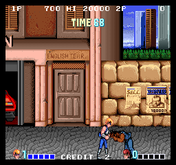 Double Dragon (US set 2) Screenshot
