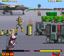 Dynamite Duke (Europe, 03SEP89) Screenshot