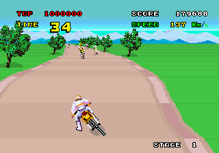 Enduro Racer (YM2151) (FD1089B 317-0013A) Screenshot
