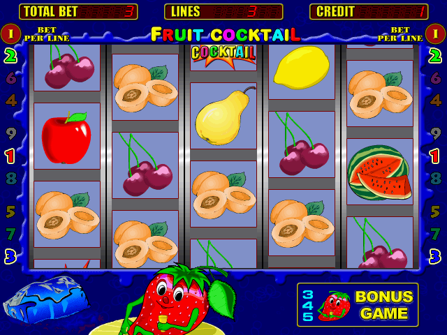Fruit Cocktail (bootleg, 050118, payout percentage 70) Screenshot