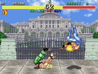 Fighter's History (Japan ver 41-07, DE-0395-1 PCB) Screenshot