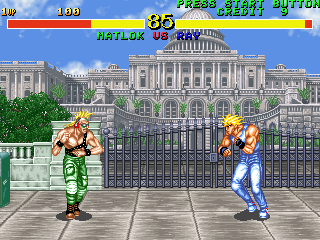 Fighter's History (US ver 42-09, DE-0396-0 PCB) Screenshot