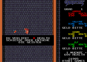 Gauntlet (German, rev 3) Screenshot