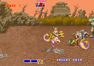 Golden Axe (set 3, World) (FD1094 317-0120) Screenshot