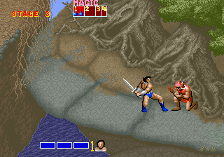 Golden Axe (set 5, US) (FD1094 317-0122) Screenshot