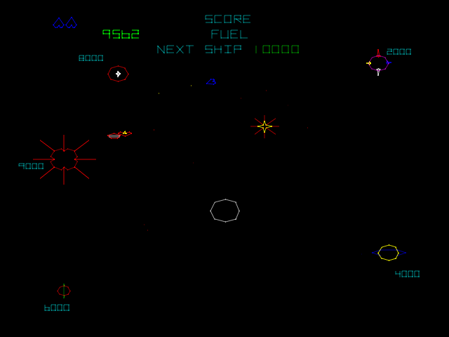 Gravitar (version 2) Screenshot