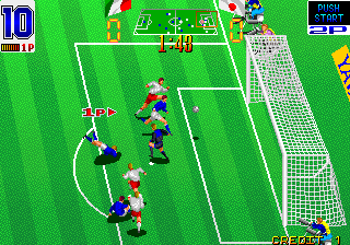 Hat Trick Hero (Japan) Screenshot