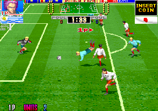 Hat Trick Hero '93 (Ver 1.0J 1993/02/28) Screenshot