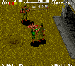 Ikari III - The Rescue (World, 8-Way Joystick) Screenshot