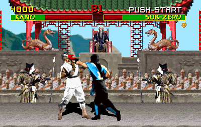 Mortal Kombat (rev 5.0 T-Unit 03/19/93) Screenshot