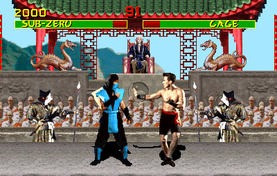 Mortal Kombat (rev 3.0 08/31/92) Screenshot