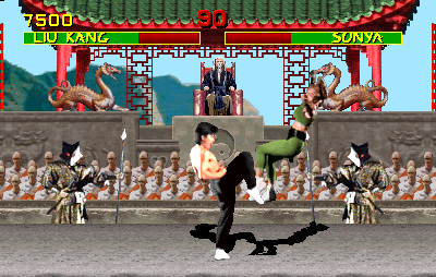 Mortal Kombat (rev 4.0 09/28/92) Screenshot