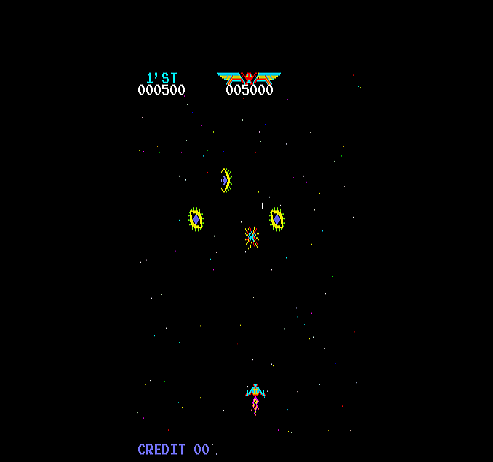 Moon War (Moon Cresta bootleg) Screenshot