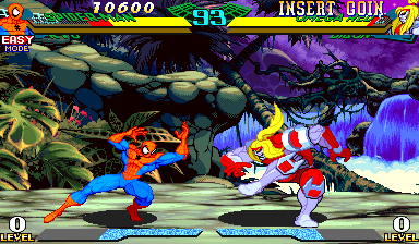 Marvel Super Heroes Vs. Street Fighter (Hispanic 970625) Screenshot
