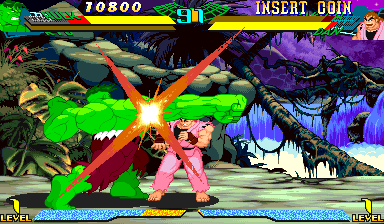 Marvel Super Heroes Vs. Street Fighter (Japan 970625) Screenshot