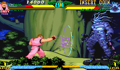 Marvel Super Heroes Vs. Street Fighter (USA 970827) Screenshot