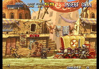 Metal Slug 2 - Super Vehicle-001/II (NGM-2410 ~ NGH-2410) Screenshot