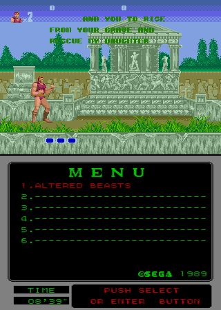 Altered Beast (Mega-Tech) Screenshot