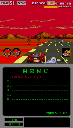 Turbo Outrun (Mega-Tech) Screenshot