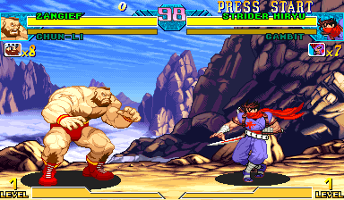 Marvel Vs. Capcom: Clash of Super Heroes (Asia 980123) Screenshot