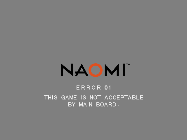 Naomi GD-ROM Bios Screenshot