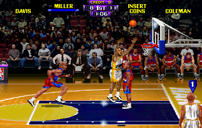 NBA Hangtime (rev L1.1 04/16/96) Screenshot