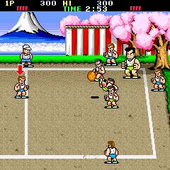 dodgeball arcade machine