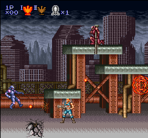 Contra 3: The Alien Wars (Nintendo Super System) Screenshot