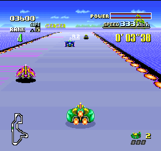 F-Zero (Nintendo Super System) Screenshot