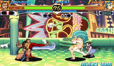 Night Warriors: Darkstalkers' Revenge (Asia 950302) Screenshot