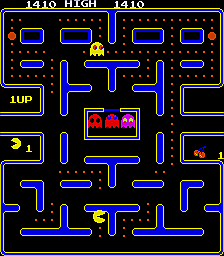 Pac-Man (Galaxian hardware, set 1) Screenshot