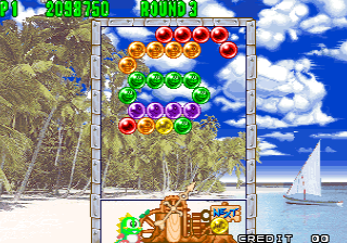 Puzzle Bobble 2 / Bust-A-Move Again (Neo-Geo) Screenshot