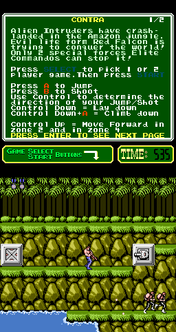 Contra (PlayChoice-10) Screenshot