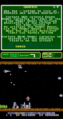 Gradius (PlayChoice-10) Screenshot