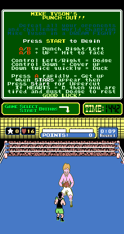 Mike Tyson's Punch-Out!! (PlayChoice-10) Screenshot