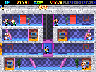 Pipi & Bibis / Whoopee!! (Z80 sound cpu, set 1) Screenshot