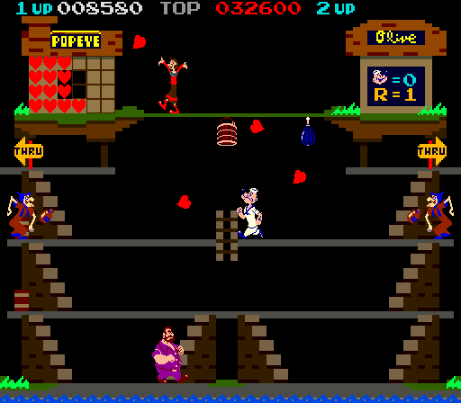 Popeye (bootleg) Screenshot