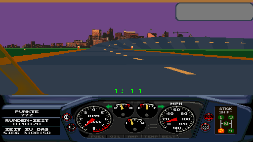 Race Drivin' (compact, German, rev 5) Screenshot
