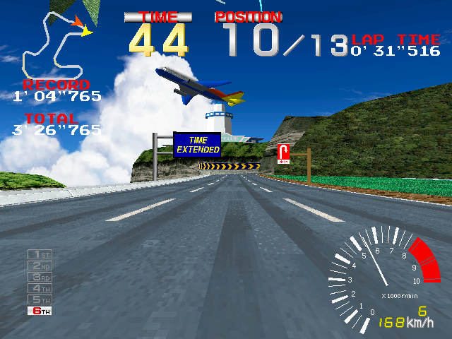 Ridge Racer (Rev. RR2 Ver.B, World, 3-screen?) Screenshot